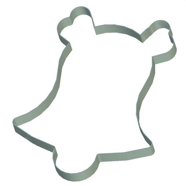 Кондитерская форма Колокольчик с бантом