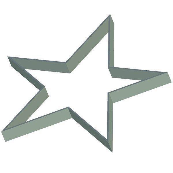 Кондитерская форма Звезда