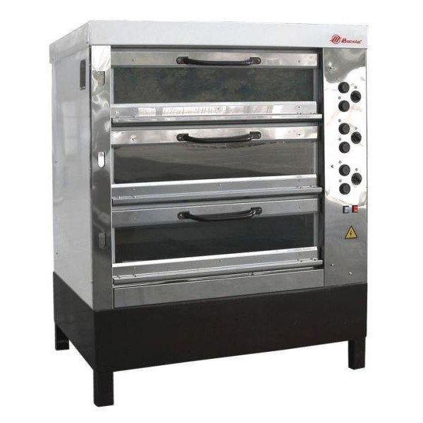Печь хлебопекарная электрическая ХПЭ-750/3С со стеклянными дверьми, в обрешетке