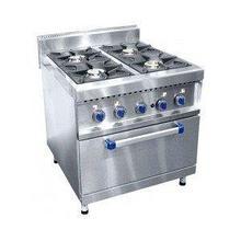 Газовая плита 4-х горелочная ПГК-49 ЖШ газовая духовка