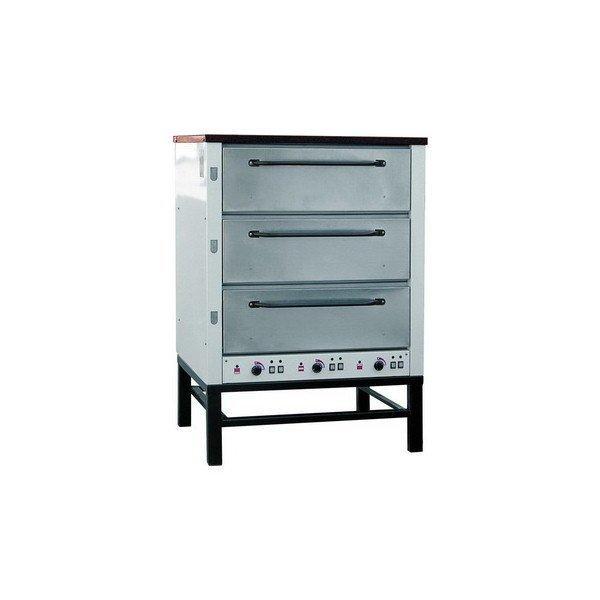 Хлебопекарная ярусная печь ХПЭ-500 (нерж.) в обрешетке