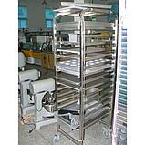 Тележка стеллажная для печи YZD-100A (810*670*1700) количество рядов 16,32, фото 2