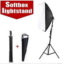2 софтбокса 50 см × 70 см на стойках с 2-я лампами по W175 итого 350Ватт, фото 3