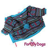 """Куртка с помпоном ForMyDogs """"Сканди"""" для собак (Голубой) - 20 р"""