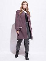 Пальто демисезонное, 50-58, трюфель, прямое