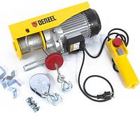Тельфер электрический TF-800, 0,8 т, 1300 Вт, высота 12 м, 8 м/мин// Denzel