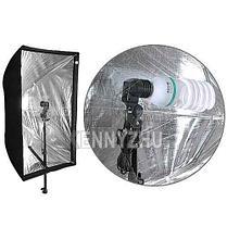 Софтбокса 60Х90 комплект из 2х на стойке с головкой с 2-мя LED лампами на 40 Ватт, фото 3