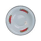 """Эмалированный миска """"Клубника садовая"""" (серо- голубой) 5 л, фото 2"""