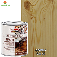 Масло деревозащитное для интерьеров, мебели и прочих деревянных поверхностей тонирующее, Сосна, 0,8 кг., фото 1
