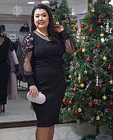 Платье Черное Вечернее Коктейльное для полных женщин