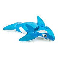 Надувная игрушка для катания верхом INTEX 58523NP Китенок (152х114см, Винил, Cyan)