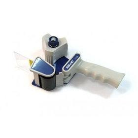 Держатель для ленты клейкой 48мм, с ручкой, белый/синий KW-trio