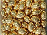 Шоколадные яйца ЗОЛОТЫЕ  1кг