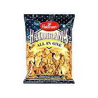 Индийская закуска Всё в одном, Халдирамс (HALDIRAM'S ALL IN ONE SPICY BLEND OF NOODLES, PULSES, PUFFED RICE, C