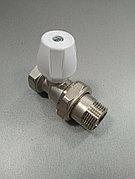 """Клапан радиаторный латунь прямой Ду 20 (3/4"""") наруж./внутр. Icma никель"""