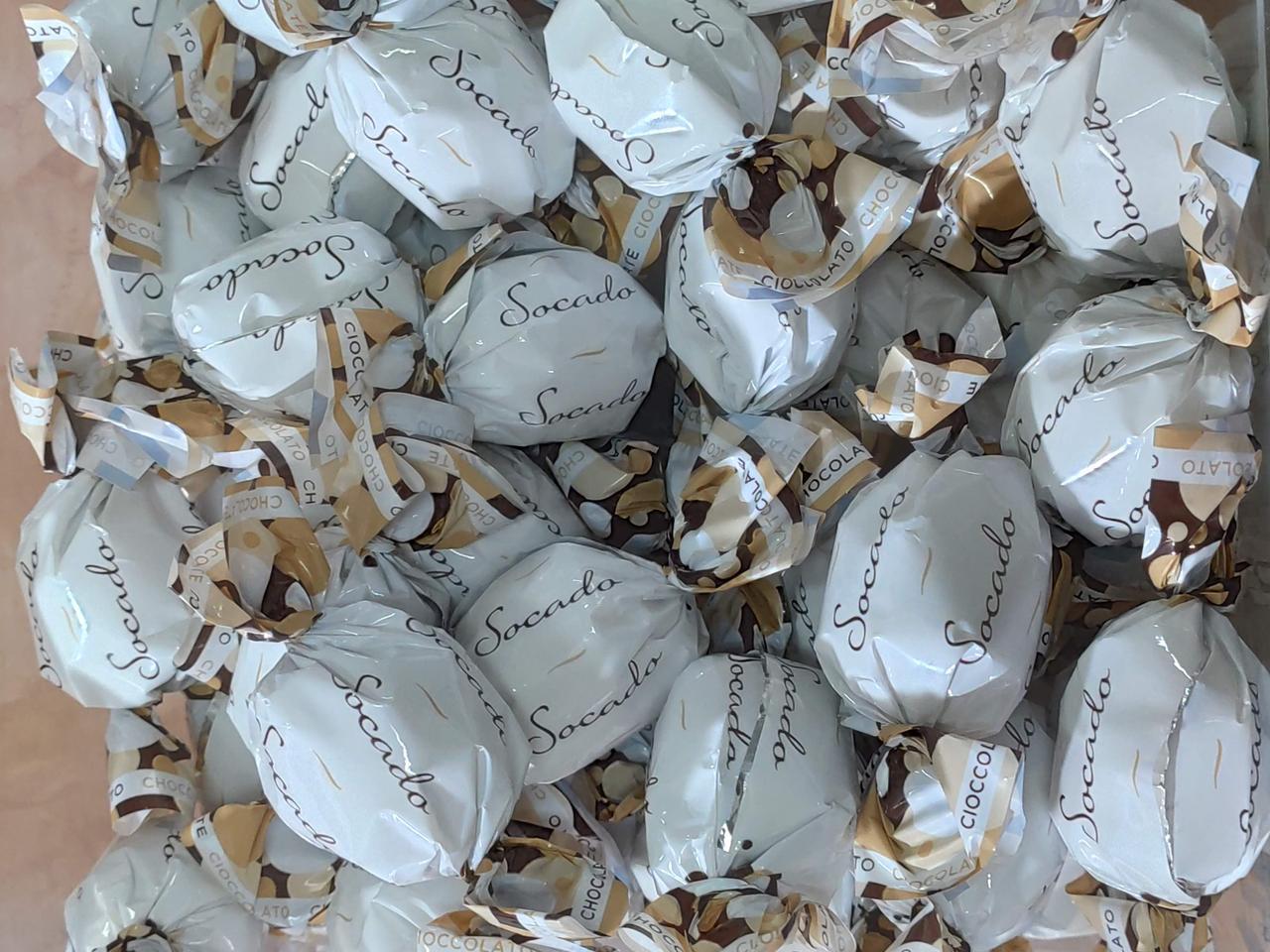 Шоколадные конфеты Socado (Белые)  1кг