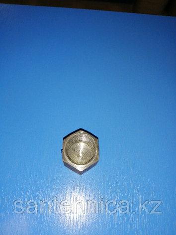 """Заглушка стальная с внутренней резьбой Ду 15 G1/2"""", фото 2"""