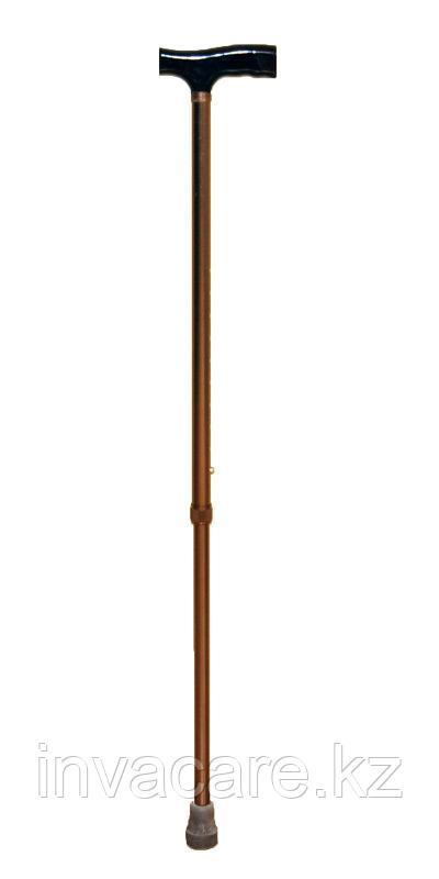 """Трость телескопическая с прямой пластмассовой ручкой с УПС (устройством против скольжения) """"Антилёд"""""""