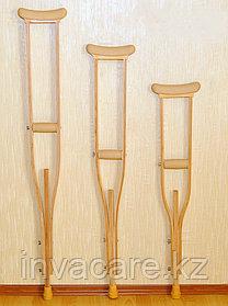 """Костыли деревянные подростковые с мягкими подмышечными накладками и ручками с УПС """"Антилёд"""""""