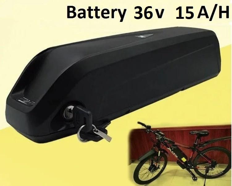 Аккумулятор Li-ion  36v 15 A/H + зарядн. устройство 36 v. Вес 4,0 Кг. Для моторов до 500w