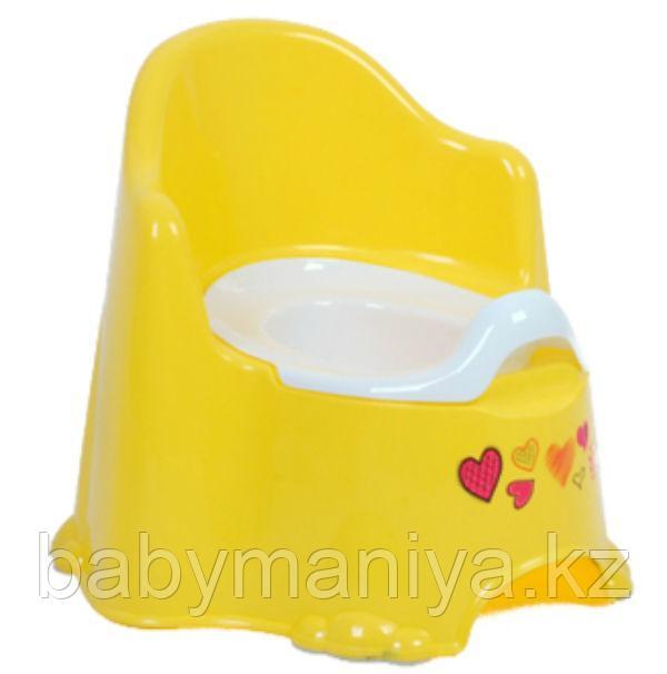 Детский горшок КОМФОРТ Dunya Plastik, желтый/оранжевый