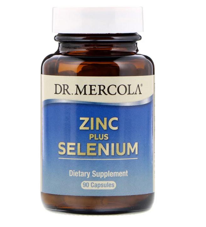 Dr. Mercola, Цинк и селен, 90 капсул