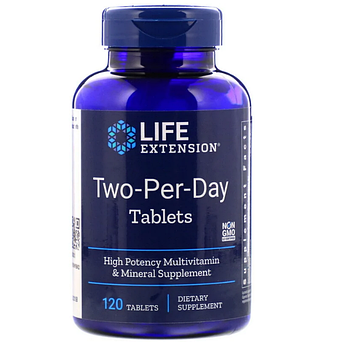 Life Extension, Таблетки «дважды в день», 120 таблеток