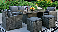 Комплект мебели АСТРА (Стол+Кресло 2+Диван+Пуфики 2)
