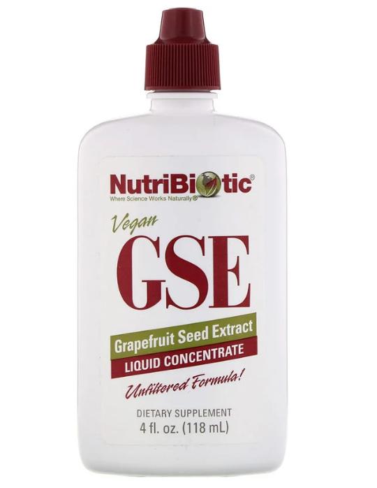 NutriBiotic, Веганский экстракт семян грейпфрута GSE, жидкий концентрат, 118 мл (4 жидкие унции)