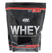 Optimum Nutrition, Сыворотка, 100% протеин из сыворотки, клубника, 1,76 фунта (797 г), фото 2