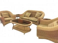 Комплект мебели из ротанга (2 кресла+Диван+столик+ 2 столика ТЕВЕТИЯ