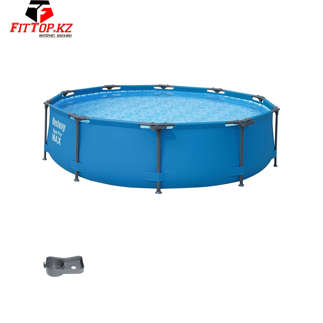 Каркасный бассейн круглый 305х76 см Steel Pro MAX Round Pool, Bestway 56406
