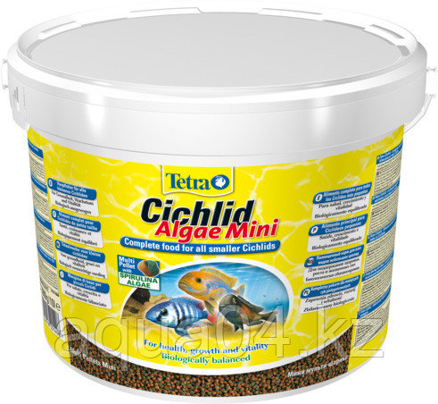 Tetra Ciсhlid Algae mini pellets 10 л. (ведро) шарики