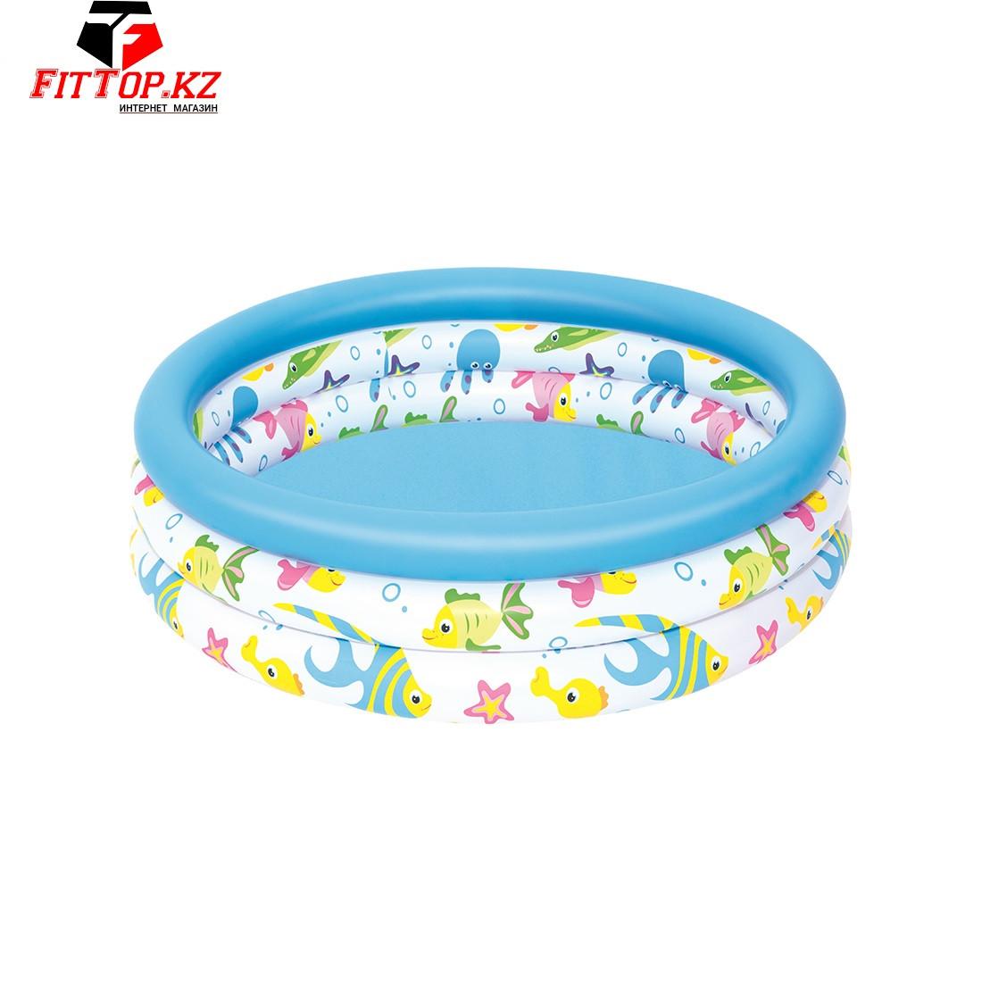 Детский надувной бассейн Coral Kids 102 х 25 см, BESTWAY, 51008 (51008E), Винил, 101л., 2+