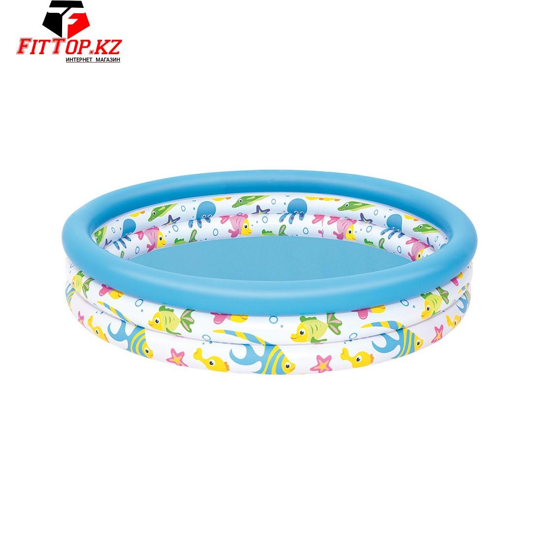Детский надувной бассейн Coral Kids 122 х 25 см, BESTWAY, 51009, Винил, 140л., 2+