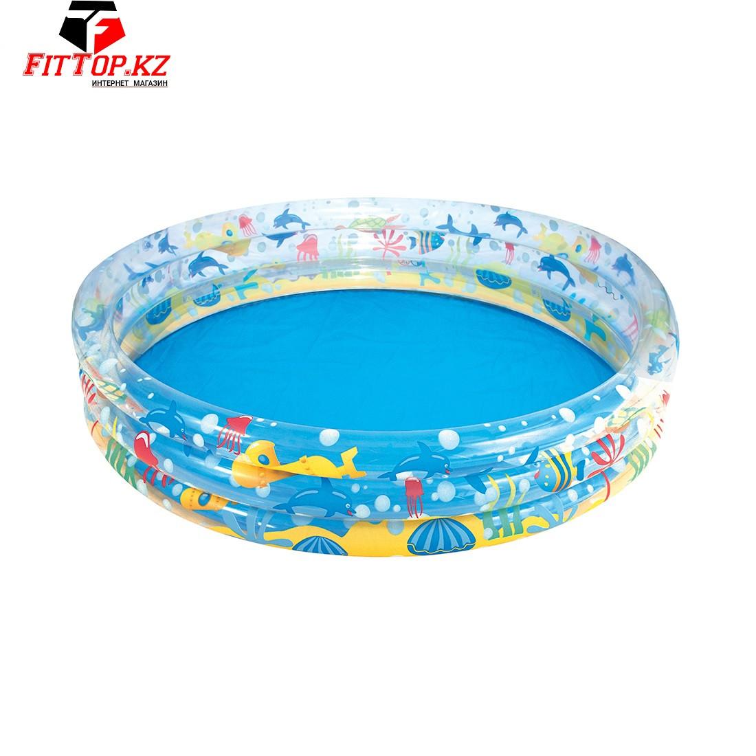 Детский надувной бассейн Deep Dive 183 x 33 см, BESTWAY, 51005, Винил, 480 л., 2+