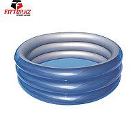 Детский надувной бассейн Big Metallic 3-Ring 201 х 53 см, BESTWAY, 51043, Винил, 937 л., 6+