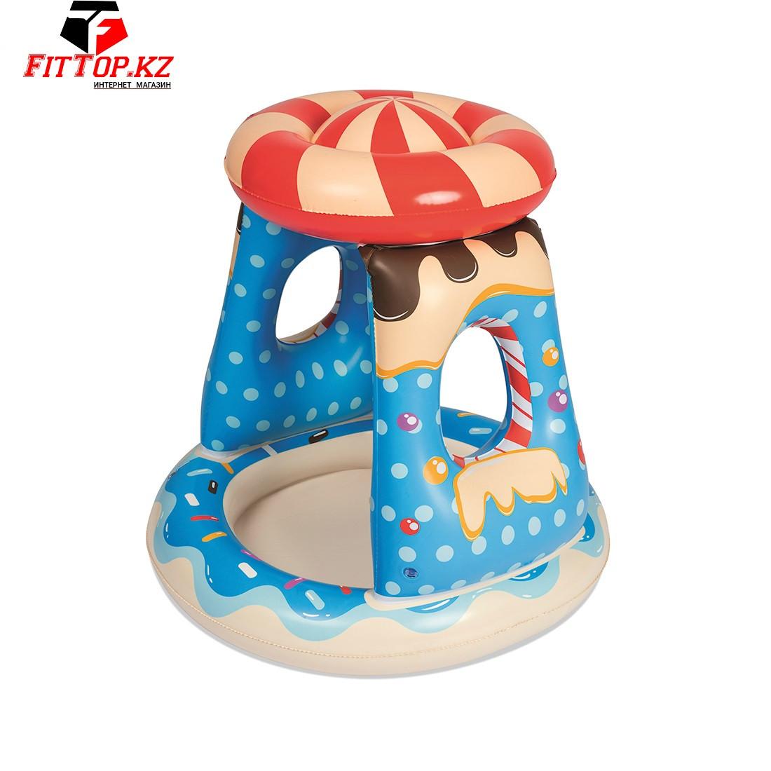 Детский надувной бассейн Candyville 91 x 89 см, BESTWAY, 52270, С надувным навесом