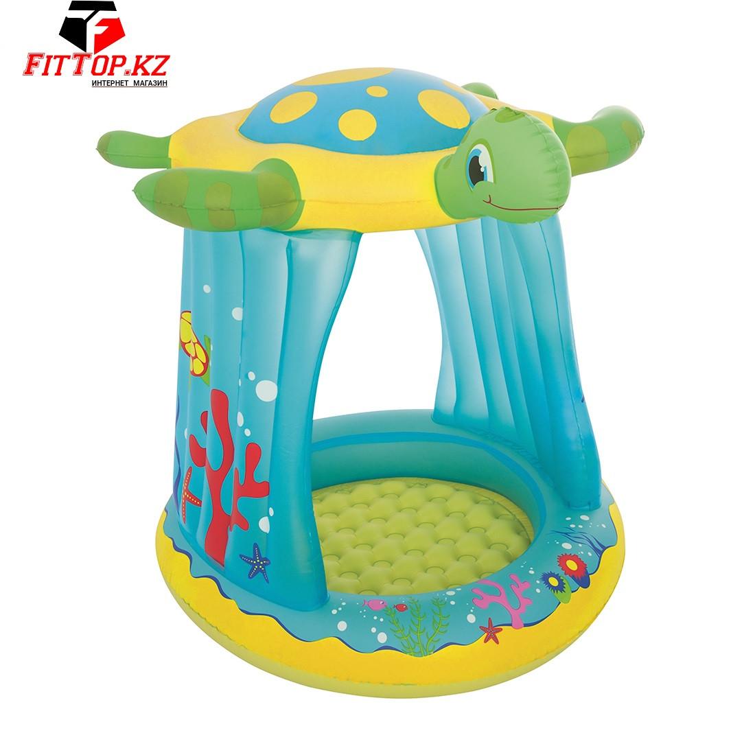Детский надувной бассейн Turtle Totz 109 х 96 х 104 см, BESTWAY, 52219
