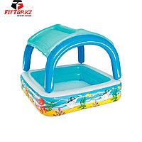 Детский надувной бассейн Canopy 140 х 140 х 114 см, BESTWAY, 52192,Съемный тент