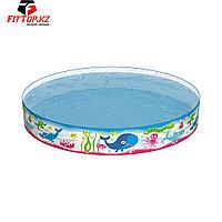 Детский бассейн с жёсткой стенкой Fill 'N Fun 152 х 25 см, BESTWAY, 55029