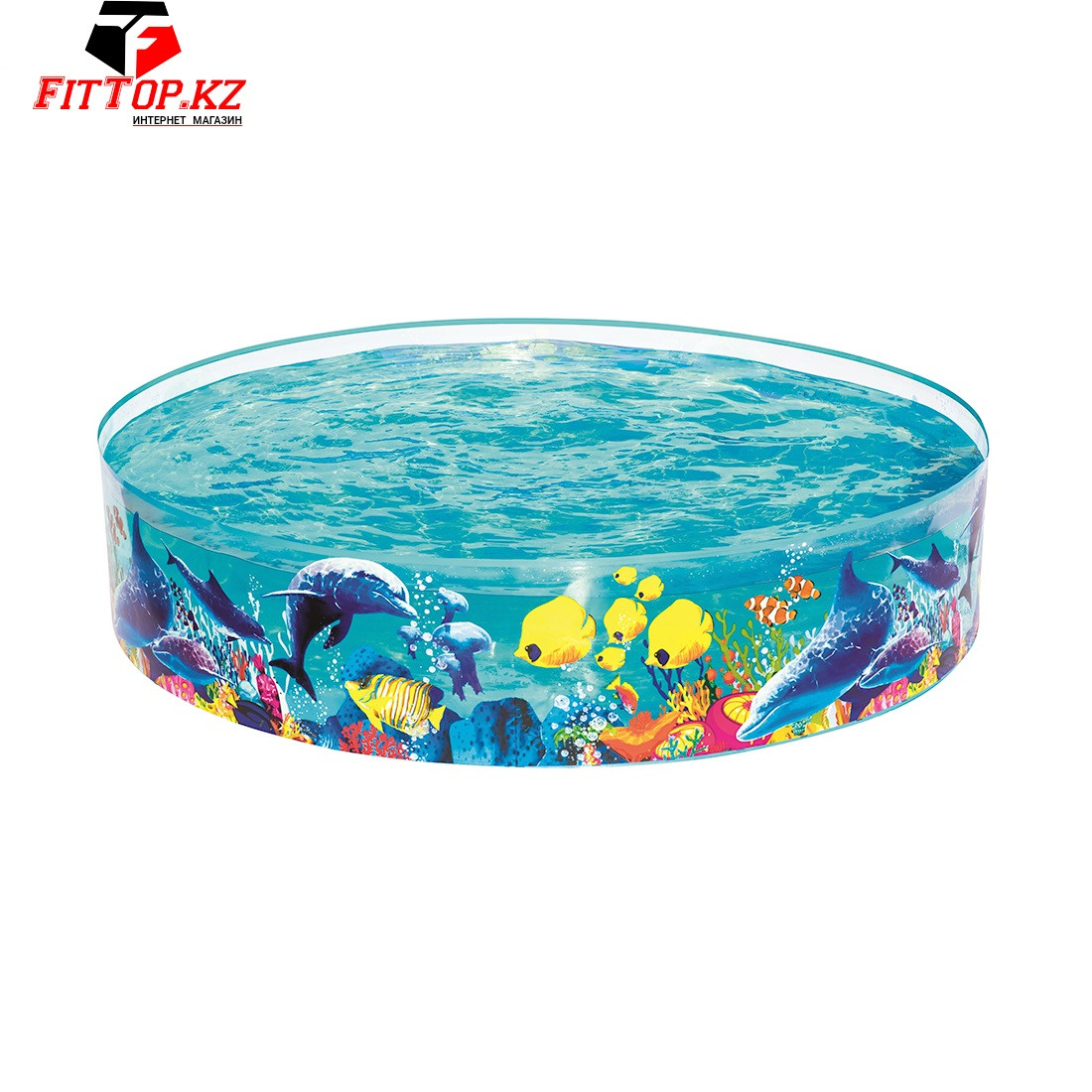 Детский бассейн с жёсткой стенкой Fill 'n Fun Odyssey 183 х 38 см, BESTWAY, 55030