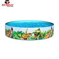 Детский бассейн с жёсткой стенкой Dinosaurous Fill 'N Fun 244 х 46 см, BESTWAY, 55001