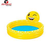 Детский надувной бассейн Emoji Kiddie 165 x 144 x 69 см, BESTWAY, 53081, Винил, 282 л., 2+