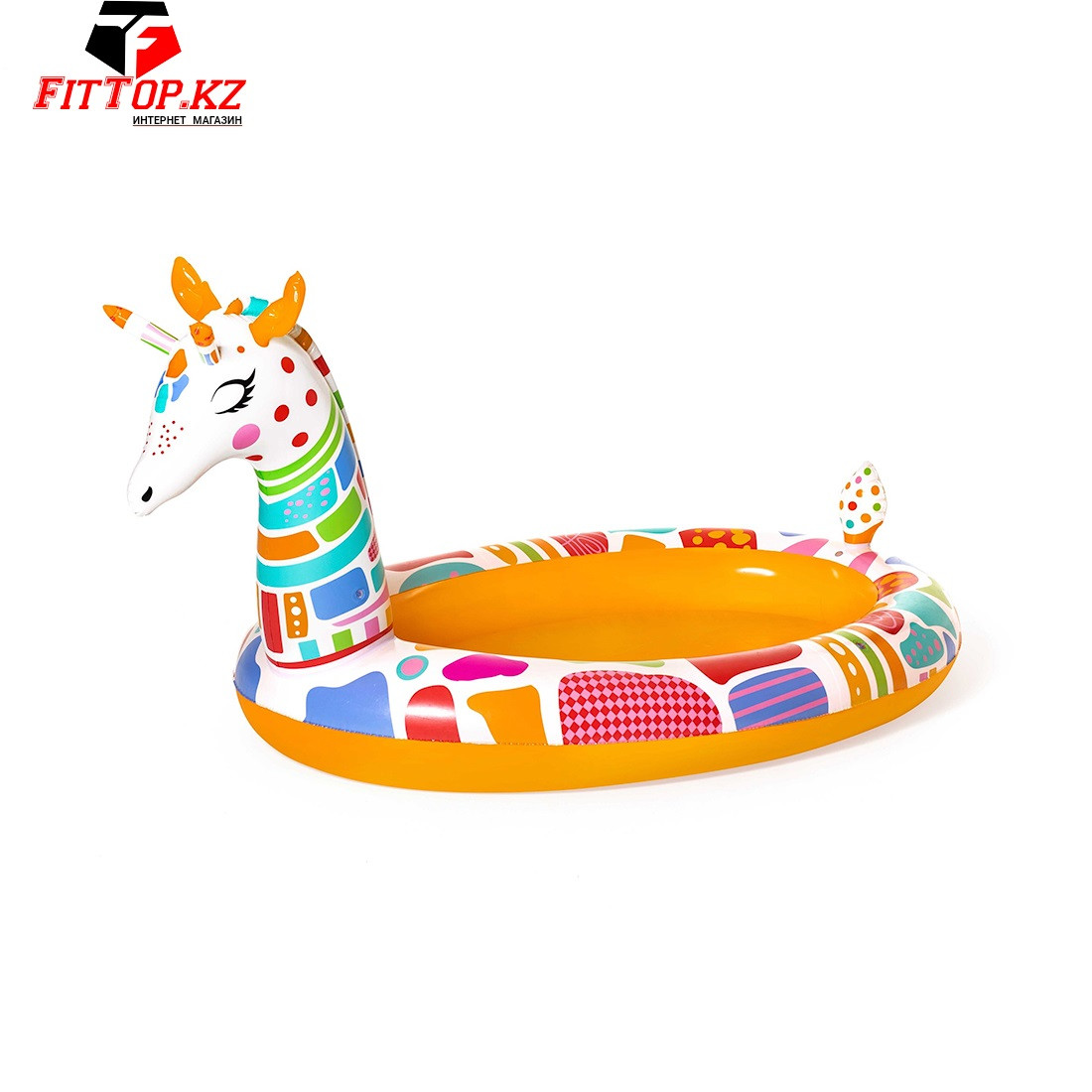 Детский надувной бассейн Groovy Giraffe 266 x 157 x 127 см, BESTWAY, 53089