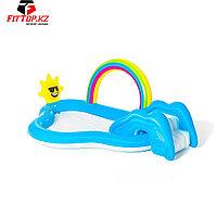 Детский надувной игровой бассейн Rainbow n' Shine 257 x 145 x 91 см, BESTWAY, 53092