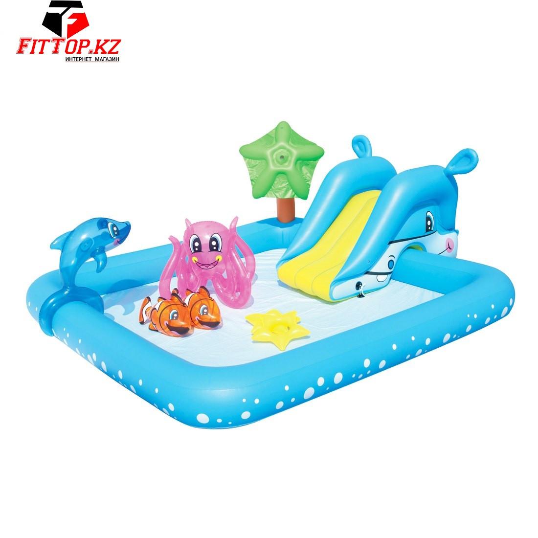 Детский надувной игровой бассейн Fantastic Aquarium 239 х 206 х 86 см, BESTWAY, 53052