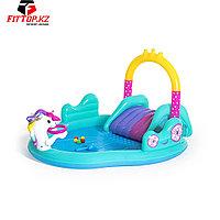 Детский надувной игровой бассейн Magical Unicorn Carriage 274 x 198 x 137 см, BESTWAY, 53097