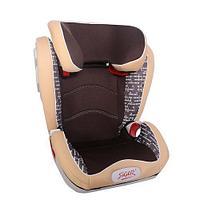 """Детское автомобильное кресло SIGER ART """"Олимп""""  коричневый ромб"""