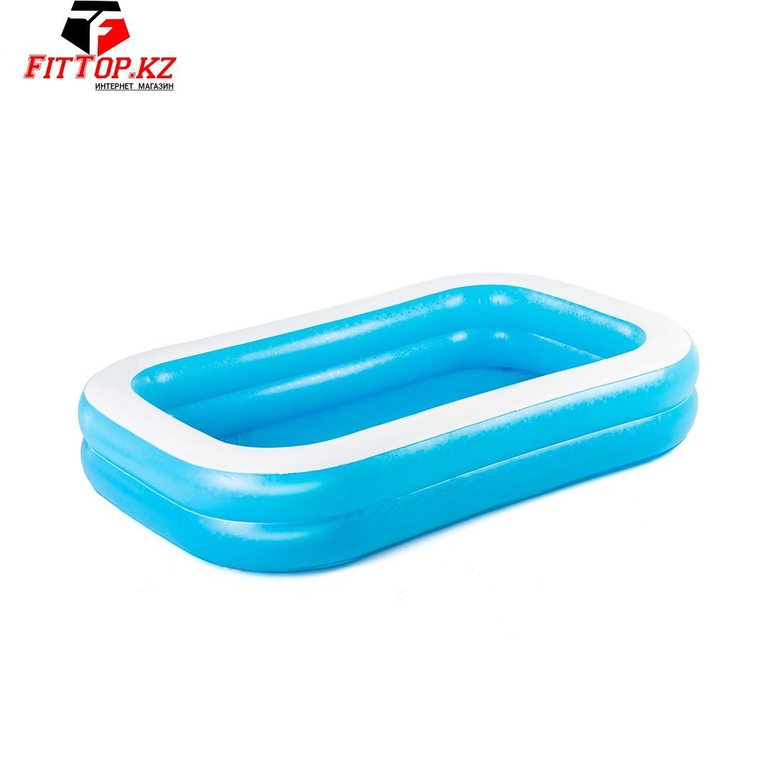 Семейный надувной бассейн Blue Rectangular 262 х 175 х 51 см, BESTWAY, 54006